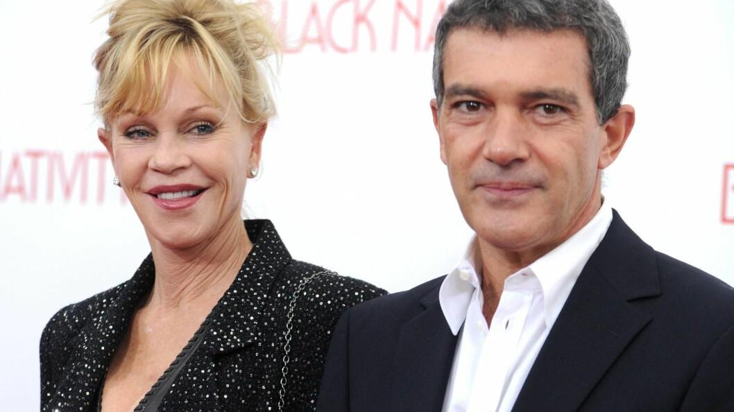 """KJÆRLIGHETEN TOK SLUTT: Da Melanie Griffith og Antonio Banderas avslørte at de gikk hver til sitt i juni 2014, skrev de i en pressemelding at skilsmissen ville bli gjort på en """"kjærlig og vennskaplig måte"""". Foto: IMAGO/ All Over Press"""