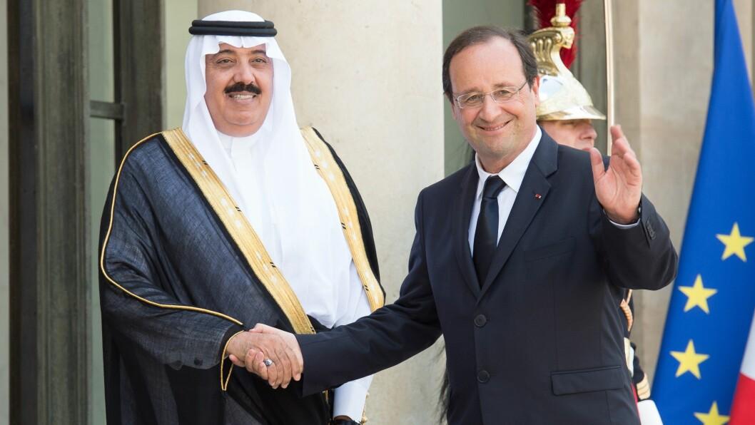 NY KONGE; I Saudia-Arabia tar Salman bin Abdulaziz al-Saud over som konge etter Abdullahs død. Her med Frankrikes president Francois Hollande. Foto: VILLARD/SIPA/All Over Press