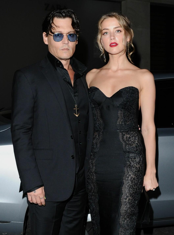 FORLOVET: Johnny Depp og Amber Heard forlovet seg i fjor. Foto: All Over Press
