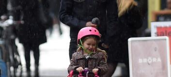 Beckham fikk datteren til å stråle i regnet