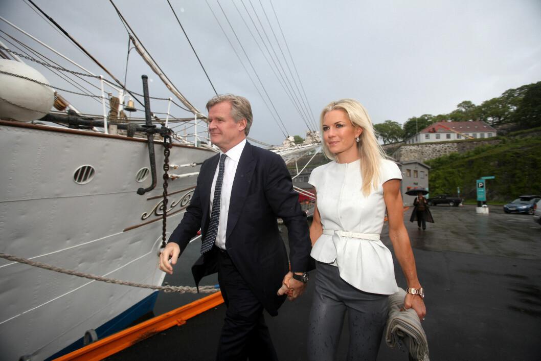 KJENT PAR: Trøim og Midelfart er et av landets mest kjente finanspar. Foto: Stella Pictures