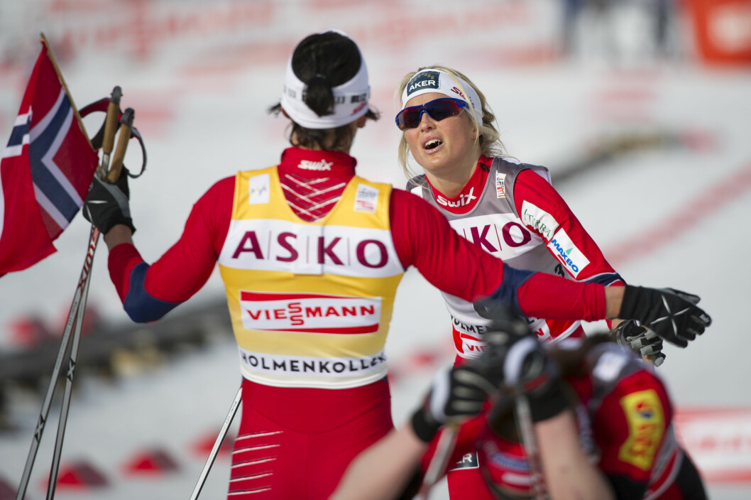 POPULÆR: Therese Johaug er en av Norges mest suksessrike idrettsutøvere. Her er hun i aksjon i Holmenkollen i 2012. Foto: Stella Pictures