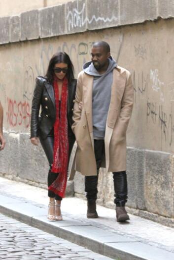 EUROPEISK: Etter bryllupsfeiring i Paris og Firenze, samt hvetebrødsdager i irske Limerick, tok Kim og Kanye turen til Praha i slutten av mai. Foto: Splash News/ All Over Press