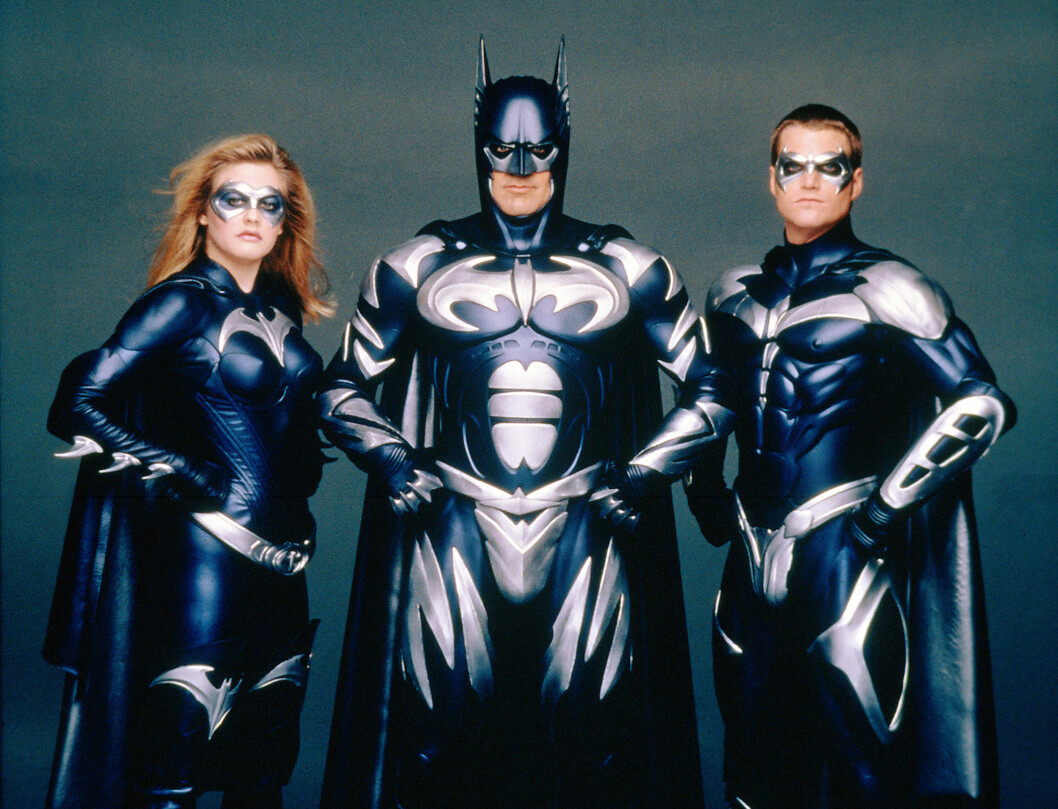 BATMAN & ROBIN, Alicia Silverstone, George Clooney, Chris O'Donnell, 1997. (c) Warner Bros./ Courtesy: Everett Collection. Foto: All Over Press