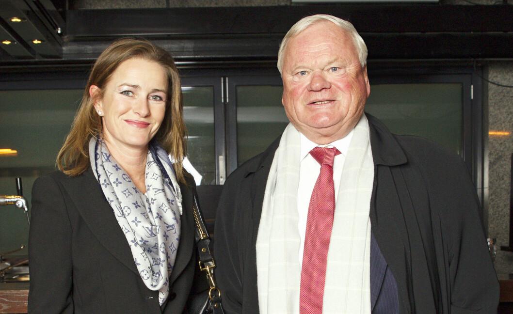 FLOTT PAR: John Fredriksen fant i 2012 lykken med galopptreneren Cathrine Erichsen. Her er paret fotografert på jubileumfest på den eksklusive restaurant Nodee i Oslo i 2013. Foto: Andreas Fadum
