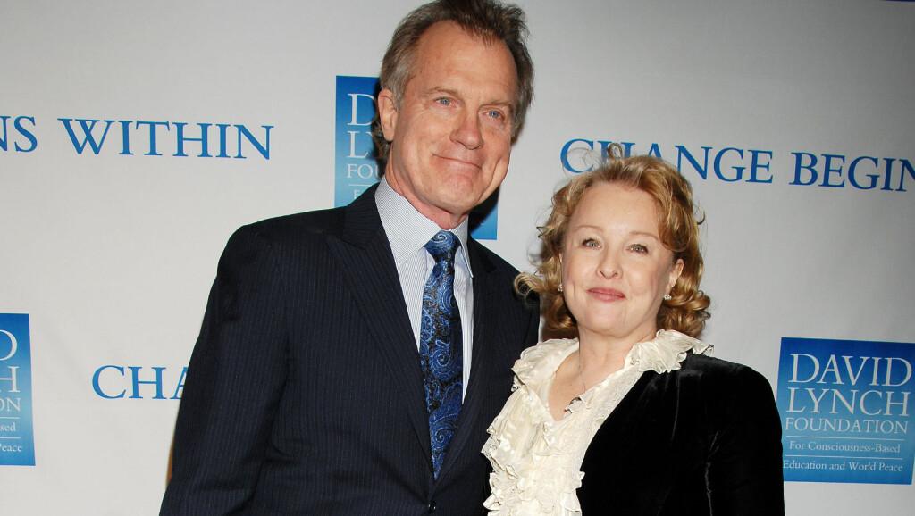 ISKALDT FORHOLD: Stephen Collins og Faye Grant har ligget i bitter skilsmissestrid i over to år. Det var ekskona som tok opp det hemmelige lydopptaket som havnet i media. Her er de to avbildet sammen på et veldedighetsarrangement i Los Angeles i desember 2011.  Foto: Stella Pictures