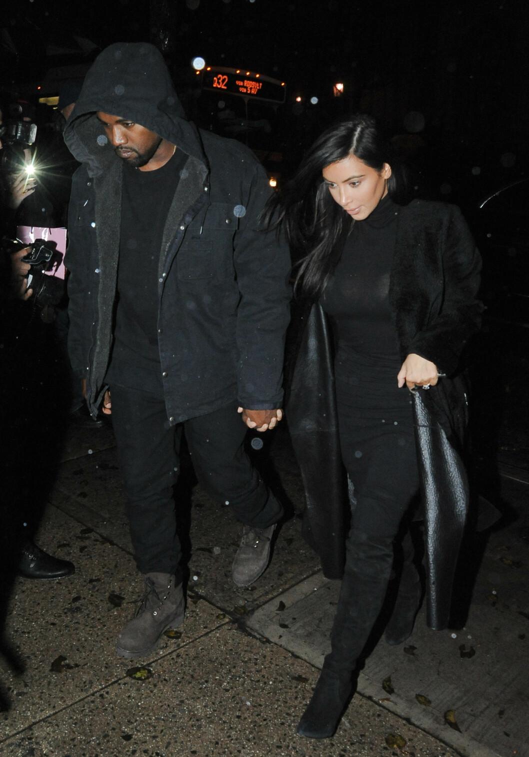 GJENFORENT: Lørdag dro Kim Kardasian og Kanye West til restauranten Serendipity 3 i New York, etter å ha vært flere dager fra hverandre. Foto: All Over Press
