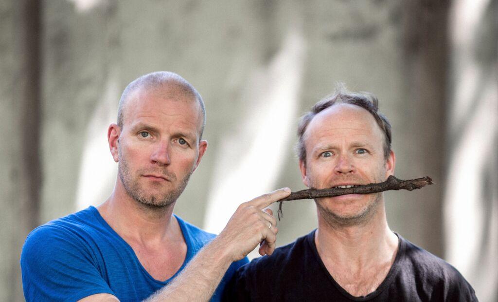 NYTT PROGRAM: Bård Tufte Johansen og Harald Eia er til våren aktuelle med programmet Årsrevyen på TVNorge. Foto: TVNorge