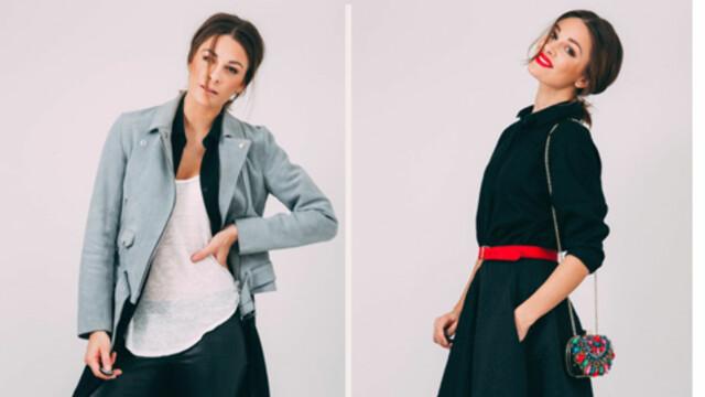 550fcb36 KONTRAST: Jenny Skavlan skal bruke samme kjolen i 24 dager. Hver dag legger  hun