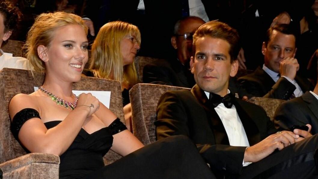 FLOTTE: Scarlett Johansson og Romain Dauriac skal nå være gift, ifølge Page Six.  Foto: All Over Press