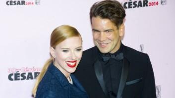 SØTE: Scarlett Johansson og Romain Dauriac har datteren Rose sammen.  Foto: All Over Press