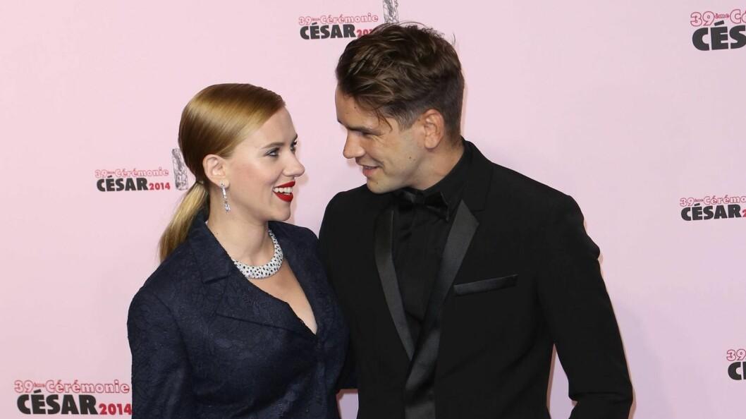 GIFT?: Scarlett Johansson og Romain Dauriac skal ha giftet seg i helgen, ifølge utenlandske medier.  Foto: imago/PicturePerfect/ All Over Press