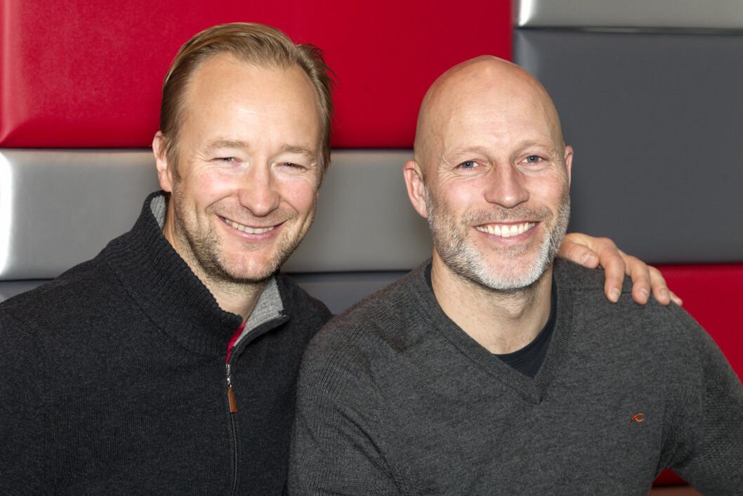 <strong>MØTER KJENDISER IGJEN:</strong> Kjetil André Aamodt og Lasse Kjus skal neste år møte idrettsstjernene til dyst på bortebane. Foto: Andreas Fadum, Se og Hør