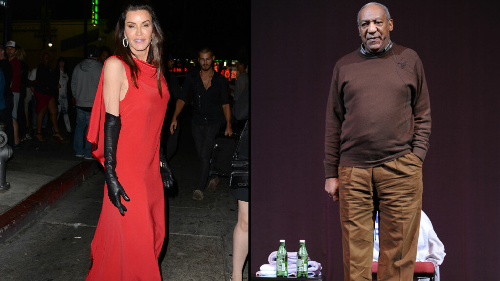 - HAN VOLDTOK MEG: Janice Dickinson hevder Bill Cosby dopet ned og voldtok henne i 1982. Foto: All Over Press