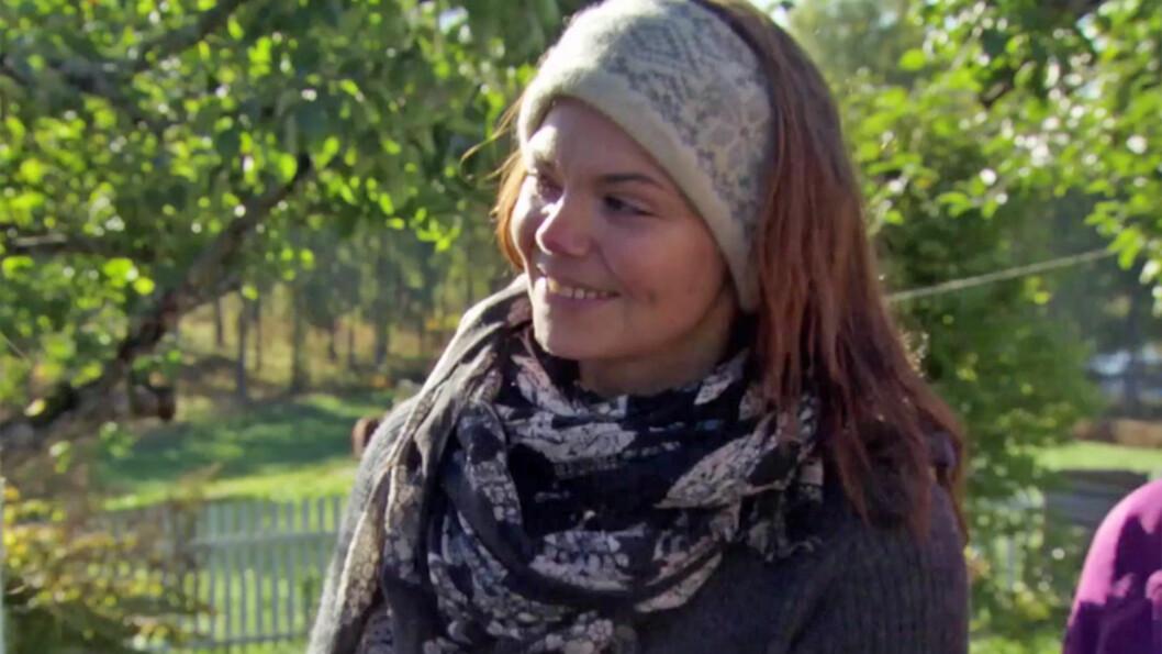 EKSTREMT SKUFFET: Stine Sørum var helt sikker på at Ørjan Hult ville velge henne til storbonde. Skuffelsen var ekstrem da det ikke gikk slik. Foto: TV 2