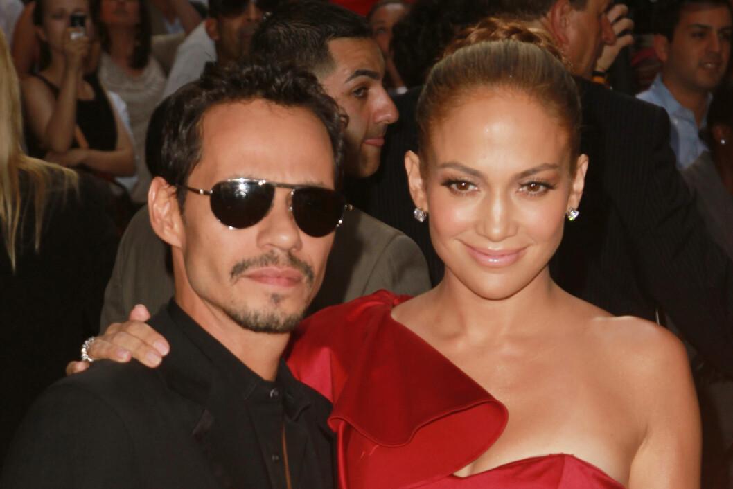 FREMDELES VENNER: Lopez og Marc Anthony hadde feiret sin syv års bryllupsdag da hun bestemte seg for å bryte med ham.  Foto: Stella Pictures