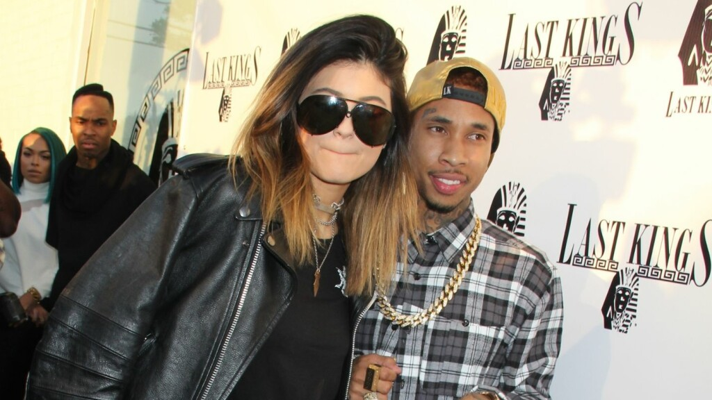 BARE VENNER: Kylie Jenner og rapperen Tyga. Foto: All Over Press