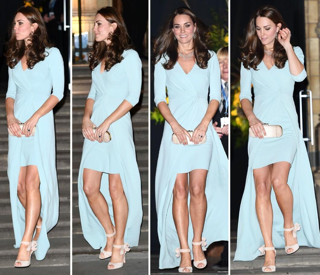 VISTE HUD: Det var ikke lett å se noen babymage på sylslanke Kate, men så er hun også bare 13 uker på vei. Foto: All Over Press