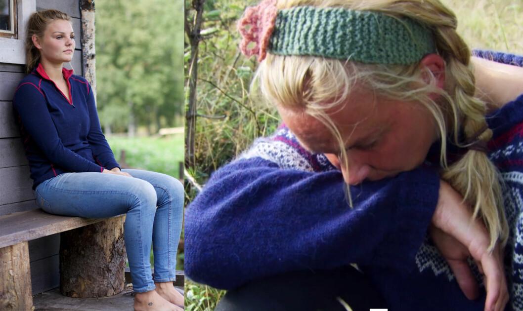 DRAMA: Den siste uken Sol (t.v) var på «Farmen»-gården opplevde hun at storbonde Charlotte Thøgersen (t.h) valgte henne til førstekjempe - en avgjørelse de begge slet med.  Foto: TV 2