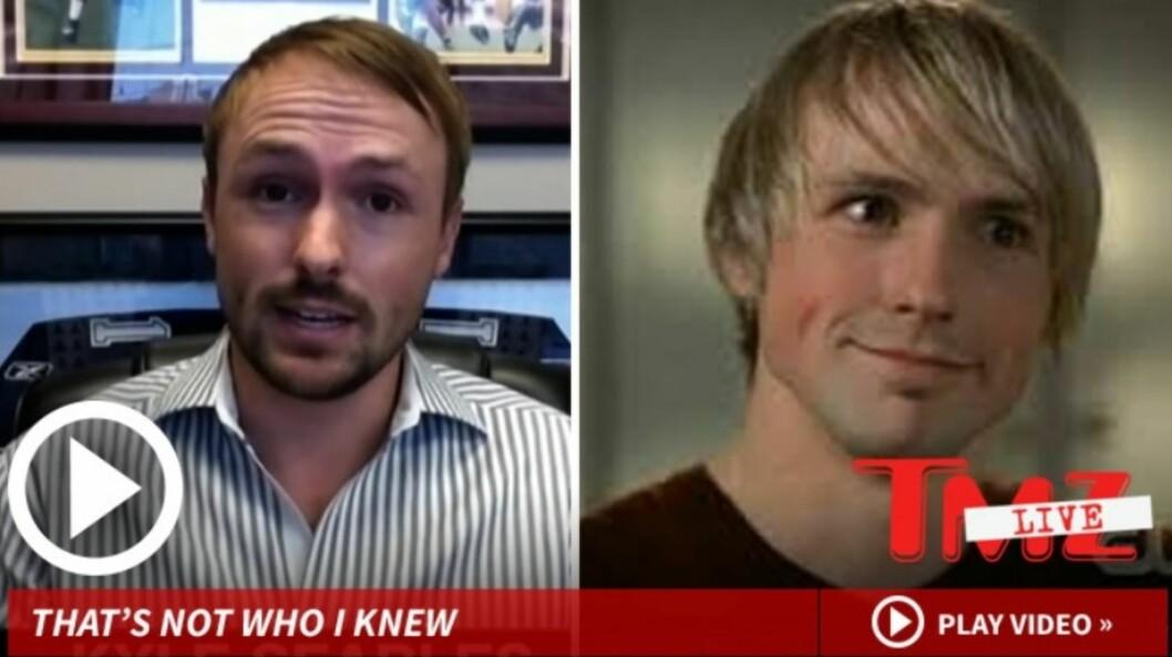 UFORSTÅELIG: Kyle Searles spilte rollen som Mac i TV-serien fra 2004 til 2007. Han sier påstandene kommer som et sjokk. Foto: TMZ.com
