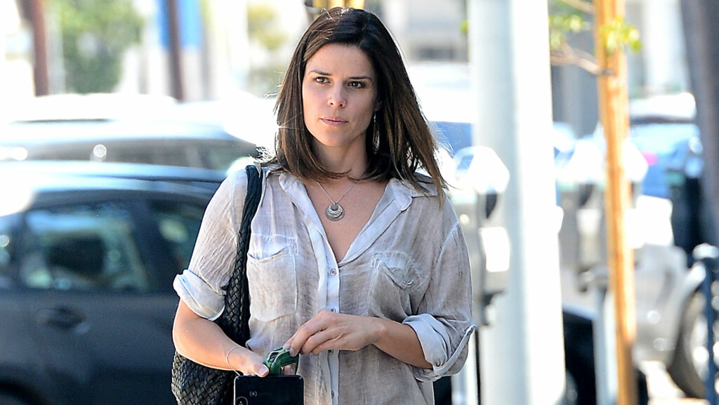 GRAVID: Nettstedet Us Magazine melder at Neve Campbell er gravid igjen. Foto: All Over Press