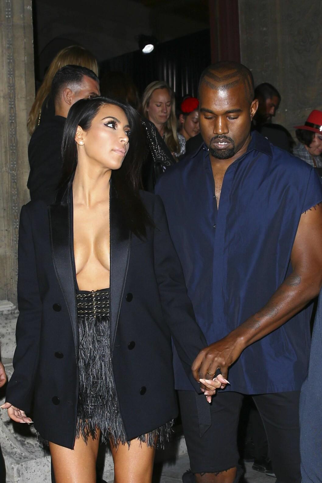 KULE: Ingenting er overlatt til tilfeldighetene når Kim og Kanye kler seg.  Foto: imago/PanoramiC/ All Over Press