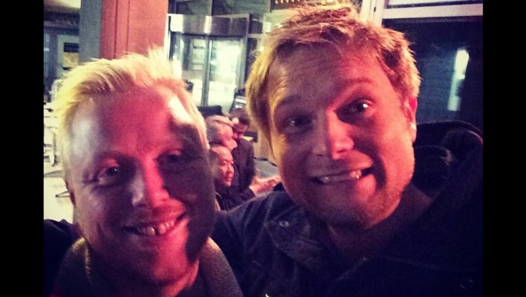 UPS: Pleide ikke Kurt å være feitere enn meg? skriver Gaute Ormåsen på sin instagram.  Foto: Gaute Ormåsen/Gjengitt med tilatelse