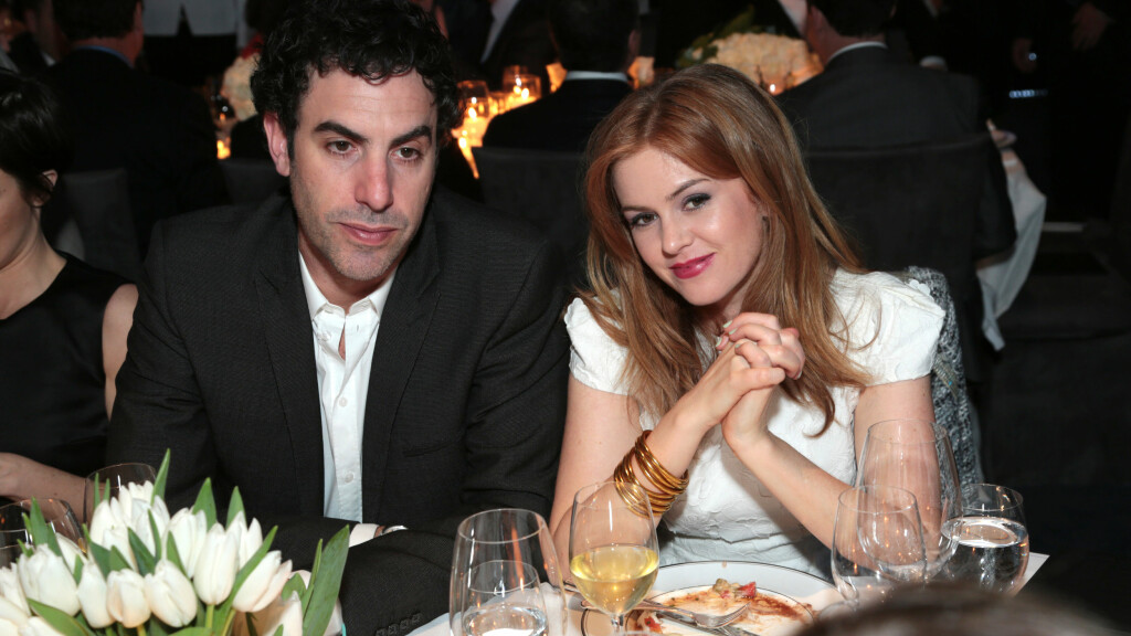 BLIR TREBARNSFORELDRE: Sacha Baron Cohen og Isla Fisher har vært sammen i 14 år og gift i fire. Nå skal skuespillerparet være gravide for tredje gang. Foto: action press/All Over Press