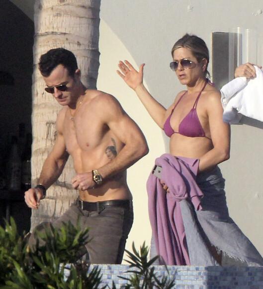 GIFTER SEG I HELLAS? Justin Theroux og Jennifer Aniston. Foto: Stella Pictures