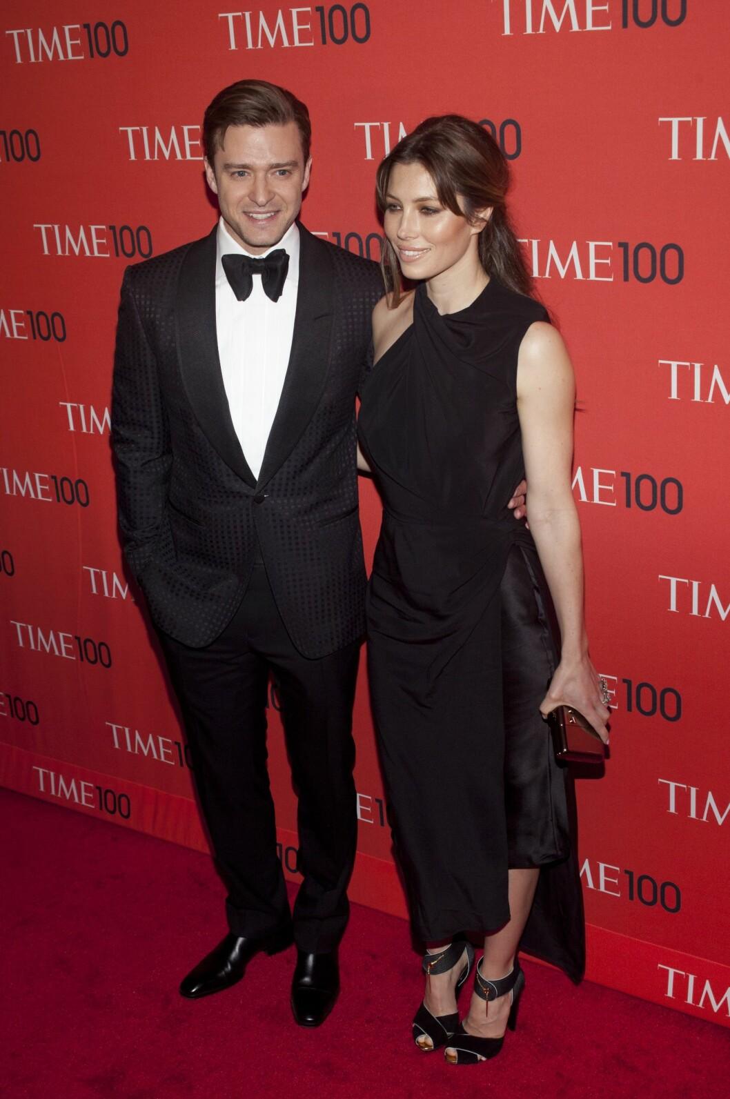 SA JA I ITALIA: Justin Timberlake og Jessica Biel. Foto: All Over