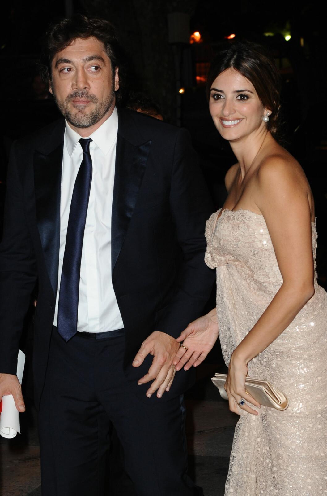 SA JA PÅ BAHAMAS: Javier Bardem og Penelope Cruz. Foto: All Over