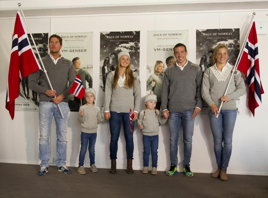 <strong>KLARE FOR VM:</strong> Chris Jespersen, Ingvild flugstad Østberg, Eldar Rønning og Astrid Uhrenholt Jacobsen var modeller. Foto: Oddvar Walle Jensen / Se og Hør