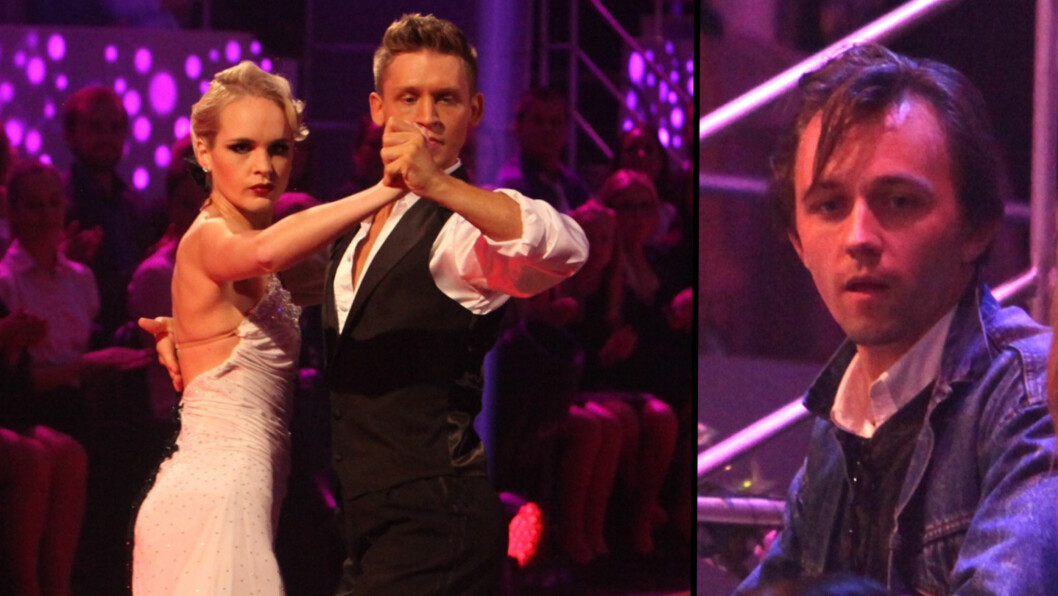 PÅ PLASS: Sondre Lerche var i salen da kjæresten Linnea Myhre danset tango lørdag kveld. Foto: Stella Pictures