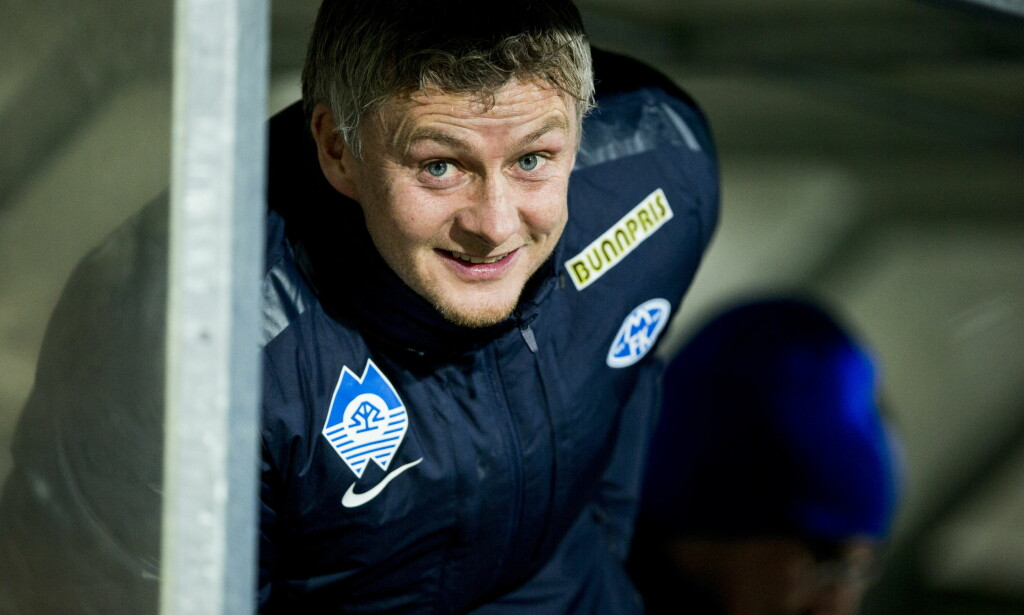 STYRKER STALLEN: Molde-trener Ole Gunnar Solskjær. Foto: Vegard Wivestad Grøtt / NTB scanpix