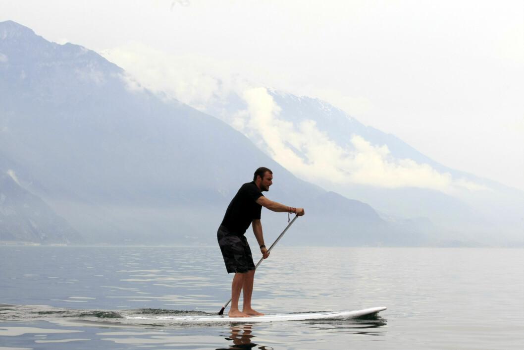 MILJØFORANDRING: Aksel under en alternativ treningsøkt med det norske laget i Trentino i Italia i slutten av mai. Foto: Splash News/ All Over Press