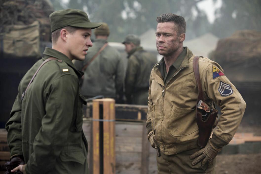 KRIGSFILM: I «Fury» spiller Brad Pitt en sersjant som leder sine tropper bak fiendens linjer under 2. verdenskrig. Foto: Stella Pictures