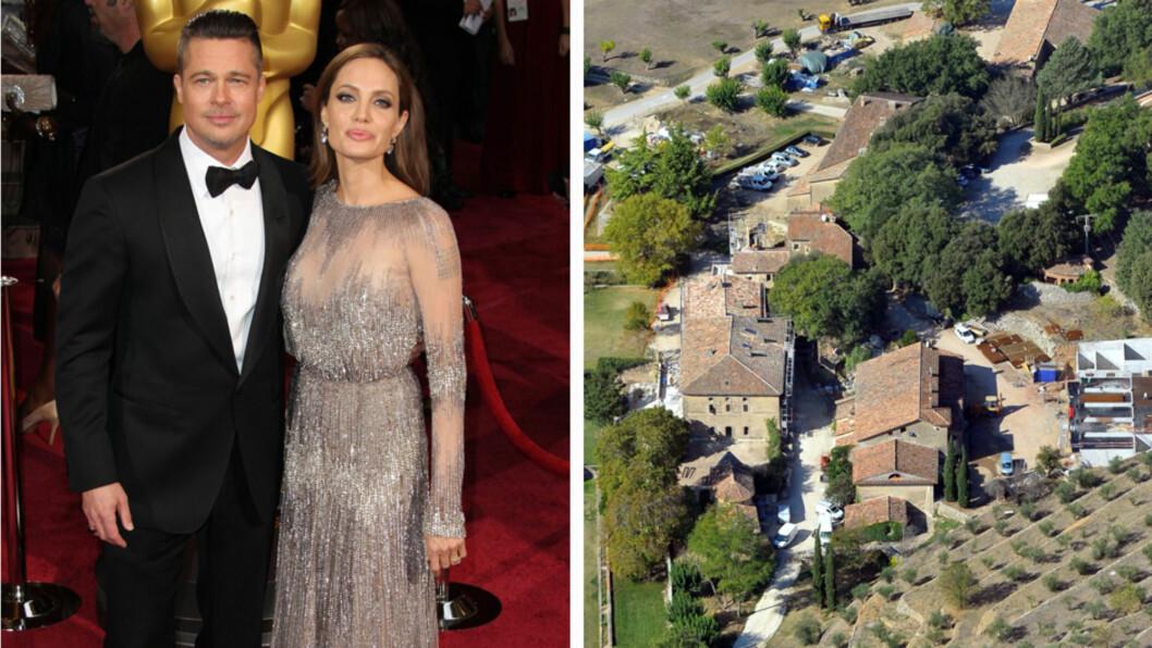 GIFTET SEG PÅ HJEMMEBANE: Brad og Angelina skal ifølge flere medier ha giftet seg i en kirke på sin franske eiendom Chateau Miraval.