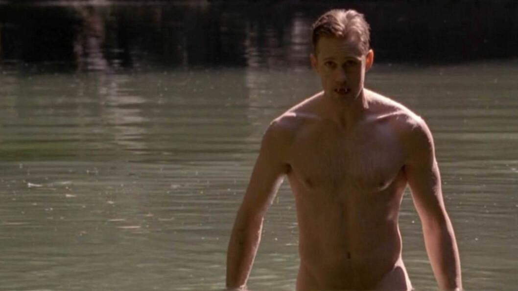 MYK MANN: Alexander Skarsgård har gjort enorm suksess som vampyren Eric Northman i «True Blood», og han innrømmer at det var vemodig å avslutte innspillingen.