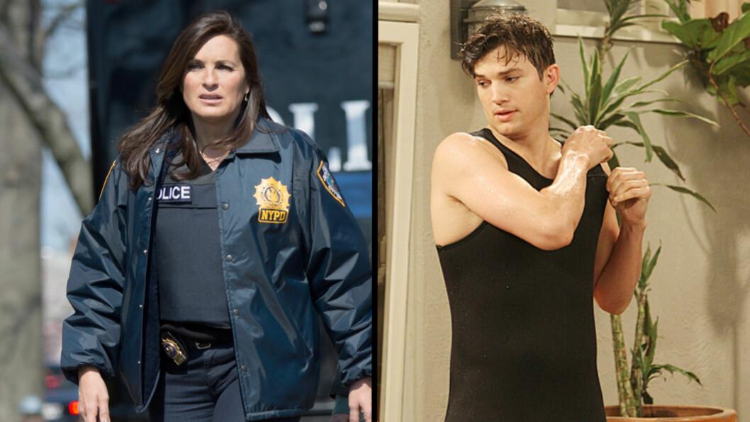 <strong>TOPPER LISTENE:</strong> Mens Law & Order-stjernen Mariska Hargitay topper dramalisten, er det Ashton Kutcher i Two and a half men som tjener mest blant komedieskuespillerne. Foto: All Over Press