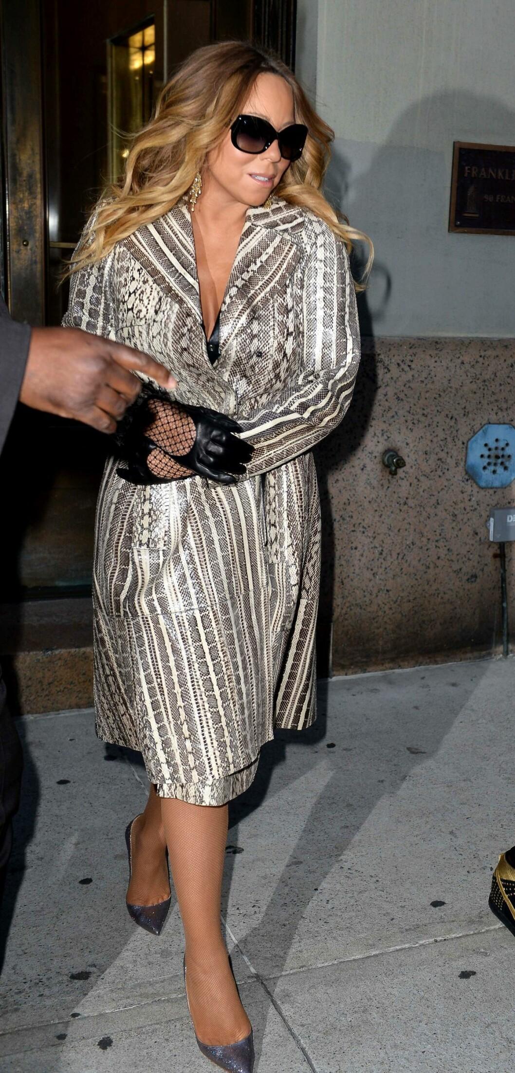 TRØBBEL: Mariah Careys ekteskap skal gå mot slutten, skal man tro ryktene.  Foto: REX/D. DaSilva/All Over Press