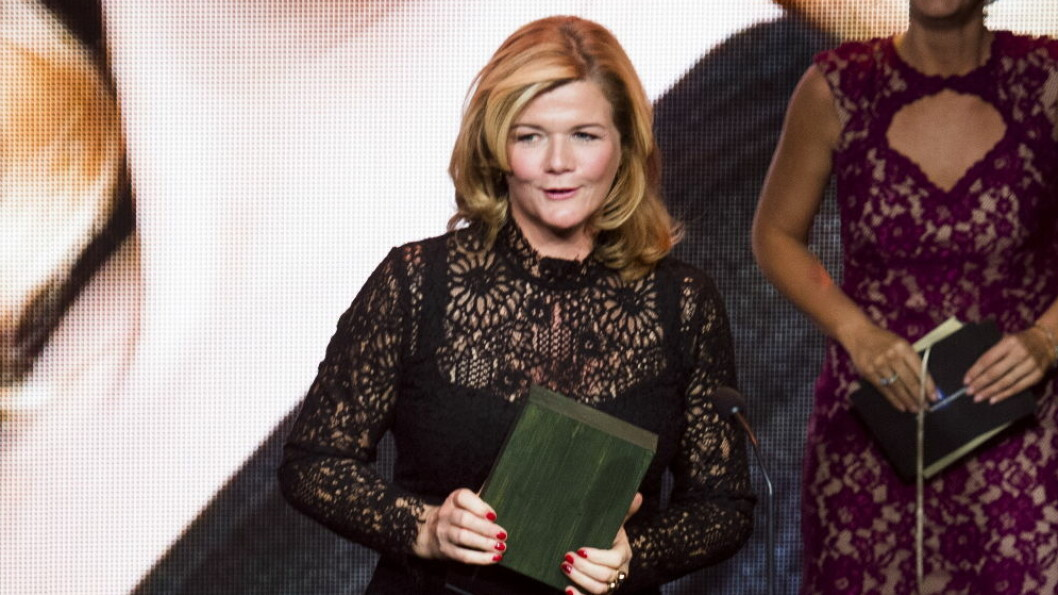 STEMT FREM: Anne Lindmo mottok prisen for årets TV-navn.  Foto: NTB scanpix