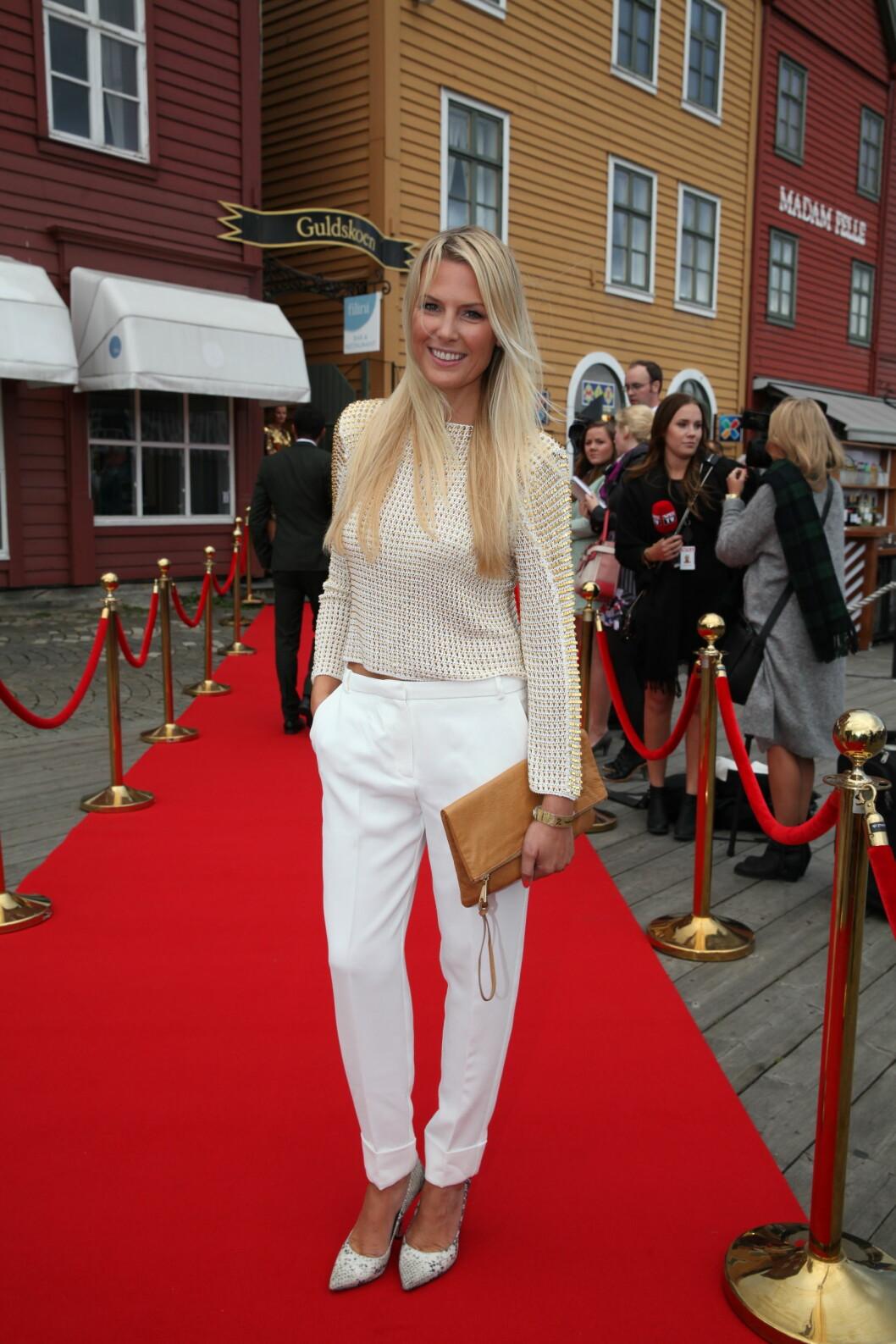 TV 2s HØSTLANSERING: Vibeke Klemetsen stilte smilende opp for fotografene. Foto: Stella Pictures