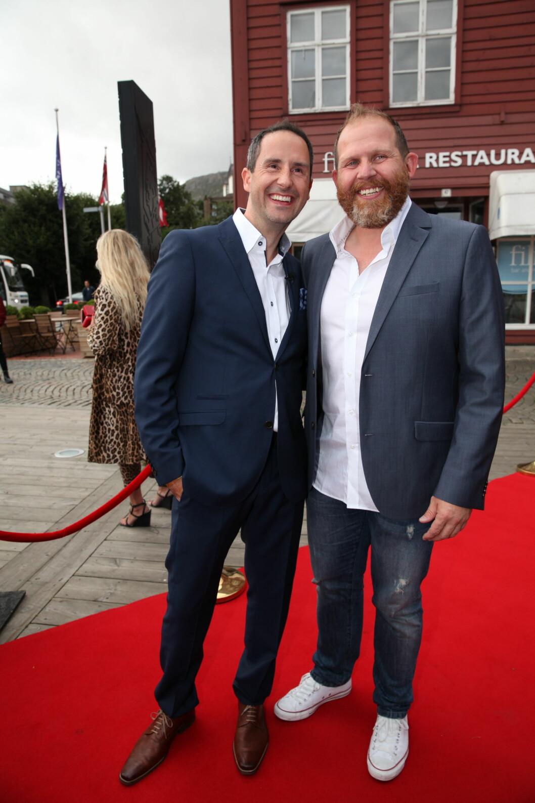 TV 2s HØSTLANSERING: Harald Rønneberg side om side med komiker Truls Svendsen. Foto: Stella Pictures