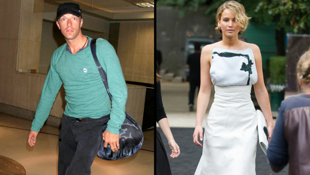 DATER HVERANDRE: Britiske The Sun skriver at Chris Martin og Jennifer Lawrence dater hverandre. Foto: All Over Press