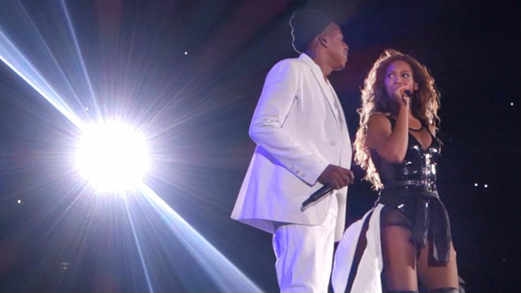 FELLES TURNÉ: Jay Z og Beyonce har i flere uker turnert sammen både i og utenfor USA. Men flere medier hevder stemningen til tider har vært svært dårlig mellom ektefellene. Foto: Brian Prahl / Splash News/ All Over Press