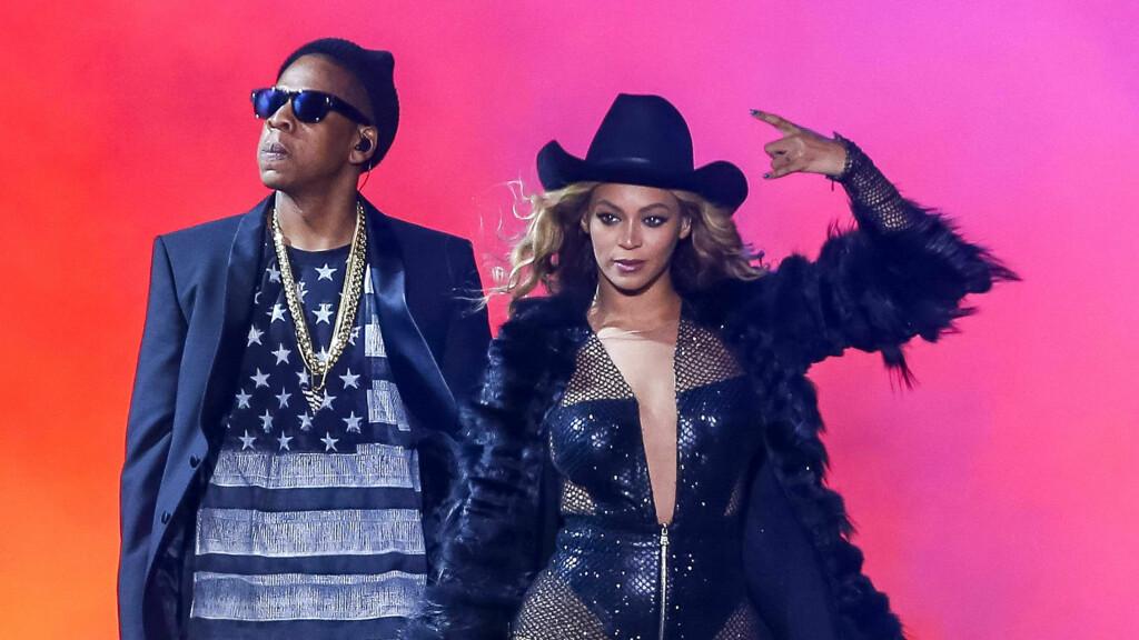 PÅ TURNÉ: Jay Z og Beyoncé er for tiden på turné sammen . Men mange spår at de kan gå fra hverandre før turnéen er over. Foto: insight media/All Over Press