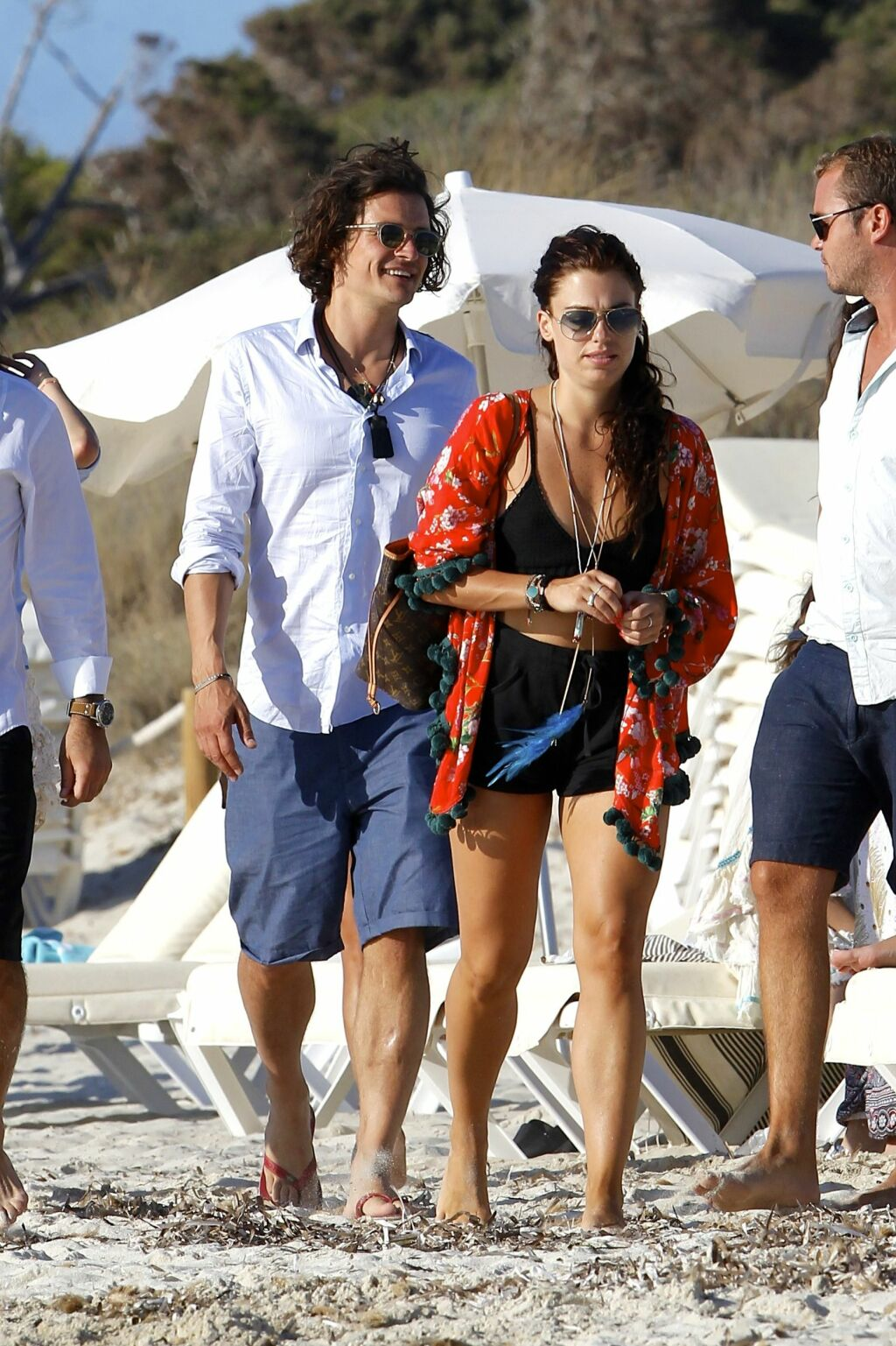 POPULÆR: Orlando Bloom ferierer for tiden på Ibiza i Middelhavet. Foto: Splash News/ All Over Press