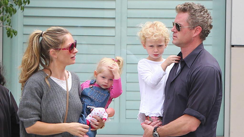 FAMILIEN I FOKUS: Eric og Rebecca er begge skuespillere, men setter foreldrerollen høyest av alt. Foto: FameFlynet Sweden
