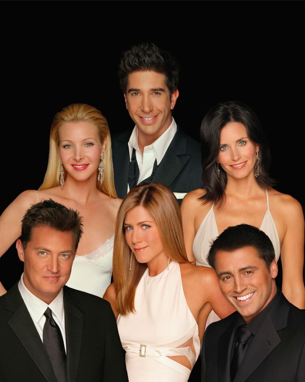 FRIENDS-GJENGEN: Chandler (Matthew Perry), Rachel (Jennifer Aniston), Joey (Matt LeBlanc), Phoebe (Lisa Kudrow), Ross (David Schwimmer), and Monica (Courteney Cox Arquette). Foto: All Over Press