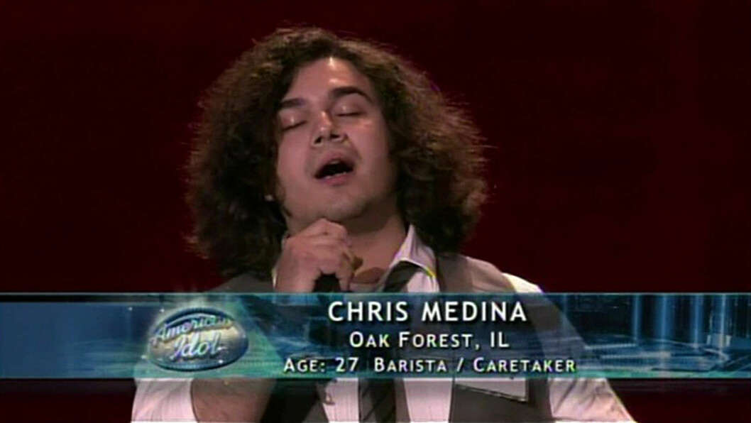 HJERTEKNUSER: Chris Medina vant alles hjerter da han sang om kjærestens funksjonshemming, i Idol  Foto: Fox/Splash News/ All Over Press